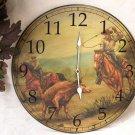 Vintage Western Cowboy Wall Clock