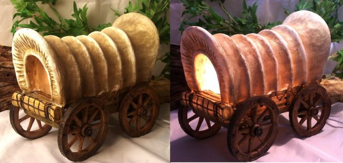 Covered Wagon Lamp Night Light