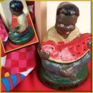 Way Down South Figurine Paperweight Boy Eating Watermellon