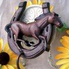 Horse and Horseshoe Hook