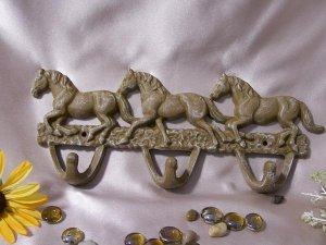 Horse Hooks Frosted White