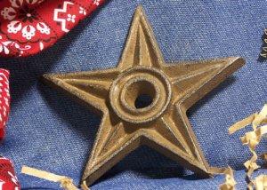 Cast Iron Star - Center Hole LARGE