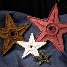 4 Cast Iron STAR IRON PAINTED