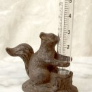 Heavy Cast Iron Squirrel Rain Gauge