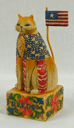 Jim Shore Cat Figurine Patriotic