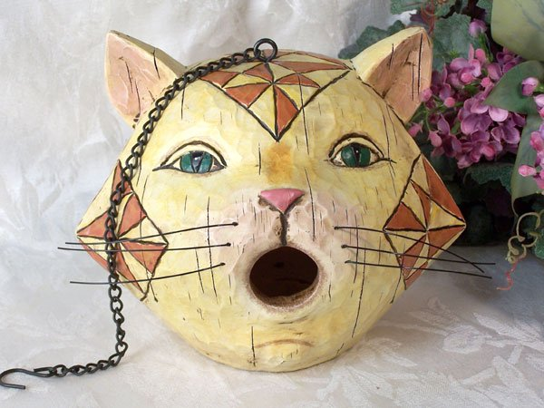 JIM SHORE Cat Birdhouse