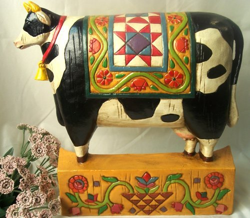 Jim Shore COW Doorstop