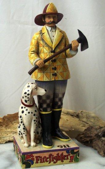 Jim Shore Fireman with Dalmatian Dog