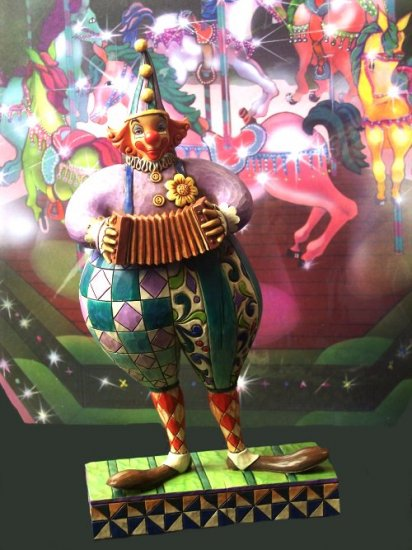 """Jim Shore Clown """"Squeezebox"""""""