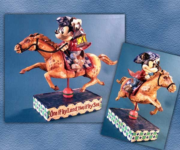 "Jim Shore Disney Mickey Mouse ""Determined Patriot"""