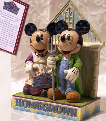 "JIM SHORE Mickey & Minnie ""Homegrown"""
