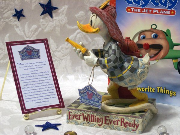 "Jim Shore Disney's Donald Duck ""Ever Willing"""