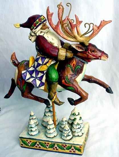 Jim Shore Santa On Reindeer