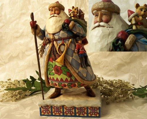 "Jim Shore Santa ""Bringing Christmas Joy"""