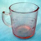 Pink Glass Dove Measuring Cup