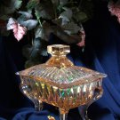 Vintage Pink Glass Piano Compote Candy Dish
