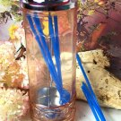 Pink Depression Glass Straw Holder