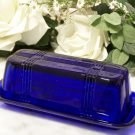 Cobalt Blue Glass Butter Dish