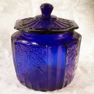 Blue Mayfair Glass Cookie Jar