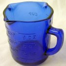 Cobalt Blue Glass Measuring Cup