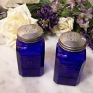 Square Colbolt Blue Salt and Pepper Shakers