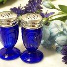 Colbolt Blue Glass Salt & Pepper Shakers