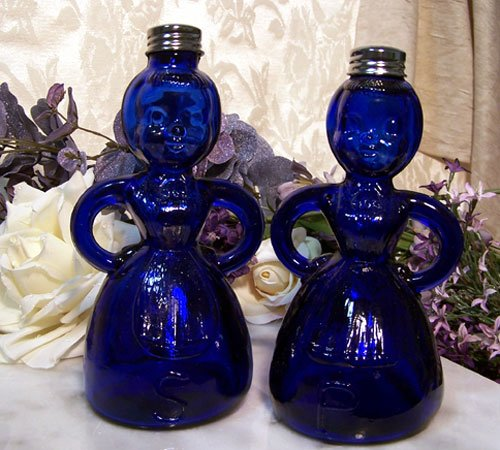 Colbolt Blue Lady  Salt and Pepper Shakers