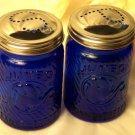 Cobalt Blue Jumbo Elephant Salt & Pepper Shakers