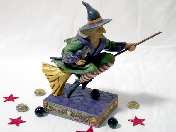 "Jim Shore Witch on Broom ""Swept Away"""