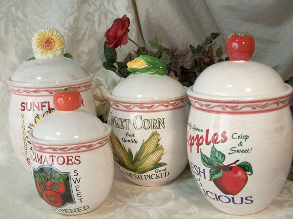 Set of 4 Farm Fresh Canister