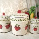 "Apple Canister Set of Three ""Country"""