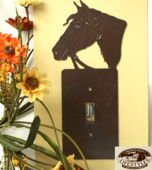 "Montana Silversmith Light switch Cover ""Horse head"""