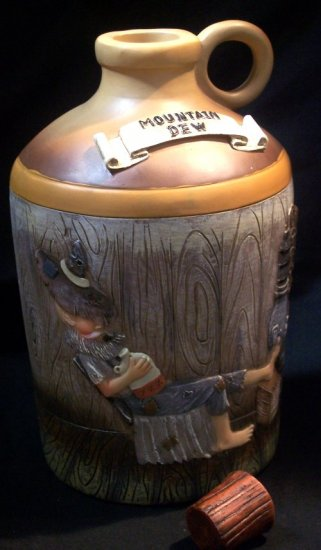 "Hillbilly ""Mountain Dew"" Moonshine Jug BANK"