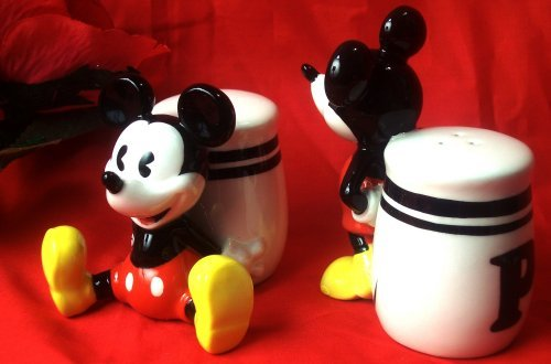 "Mickey Mouse ""Pie-Eyed"" Salt & Pepper Shakers"