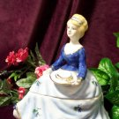 "Powder Box Girl Blue ""Limoges China"""