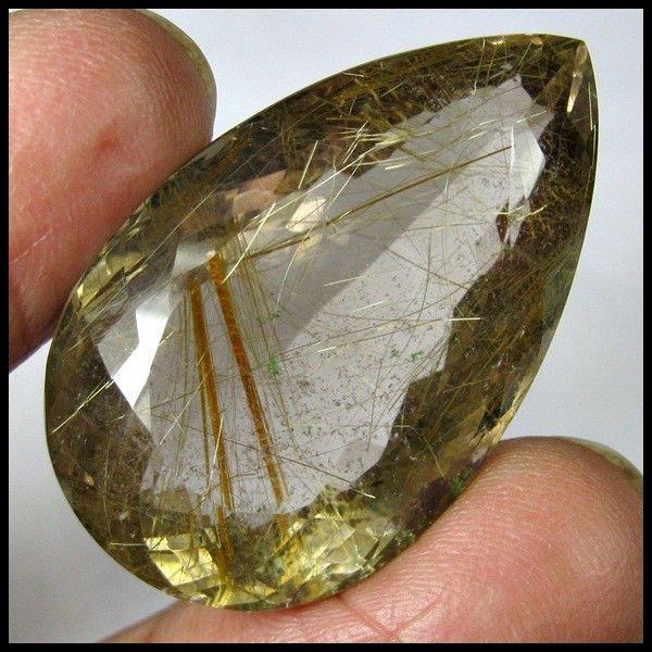 80.85 CARAT RARE & MOST BEAUTIFUL GOLDEN RUTILATED QUARTZ GEMSTONE FOR PENDANT