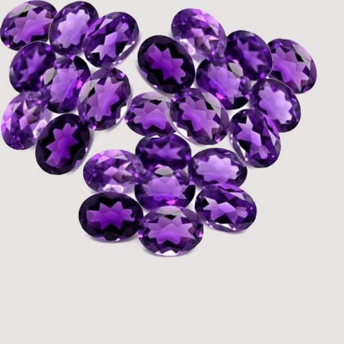 Certified  Natural Amethyst AA Quality 4x5 mm faceted Oval 25 pcs Lot