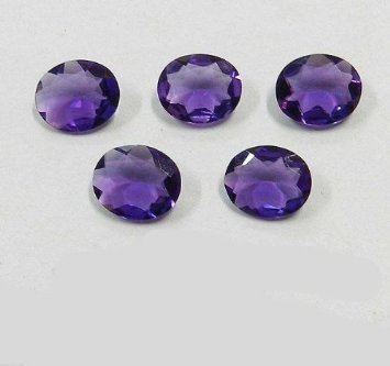 Certified  Natural Amethyst AA Quality 9x11 mm faceted Oval 5 pcs