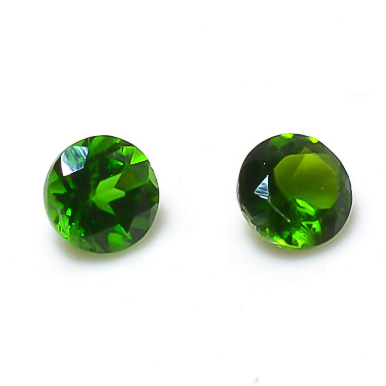 Certified  Natural Chrome diopside AAA Quality 2.25 mm faceted Round 50 pcs lot