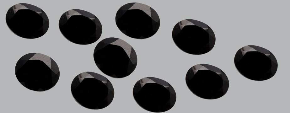Certified Natural Black Spinel AAA Quality 9x7 mm faceted Oval 5 pcs lot