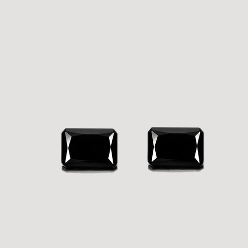 Certified Natural Black Spinel AAA Quality 10x12 mm faceted Octagon 2 pcs pair