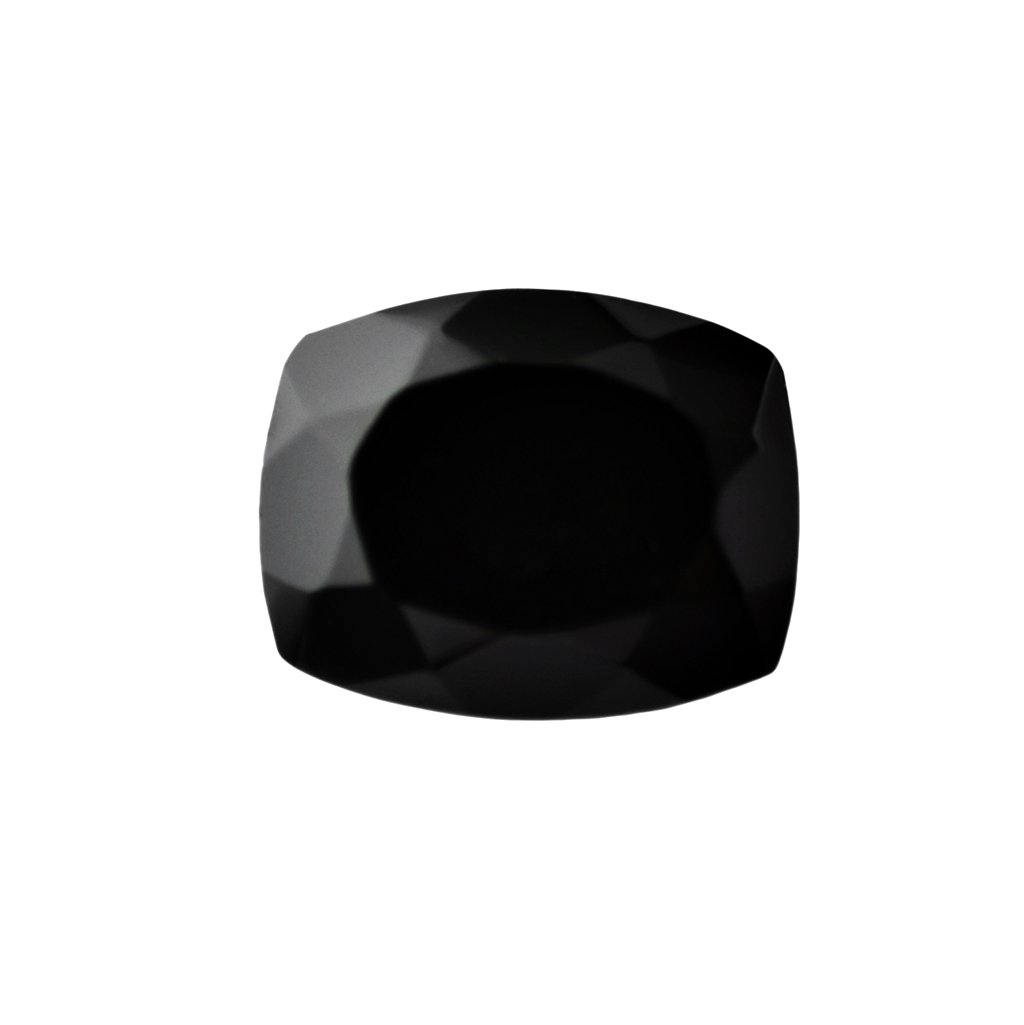 Certified Natural Black Spinel AAA Quality 11 mm faceted Cushion 1 pc