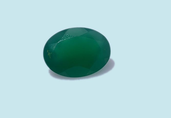 Certified Natural Green Onyx AAA Quality 10x14 mm faceted Oval 1 pc