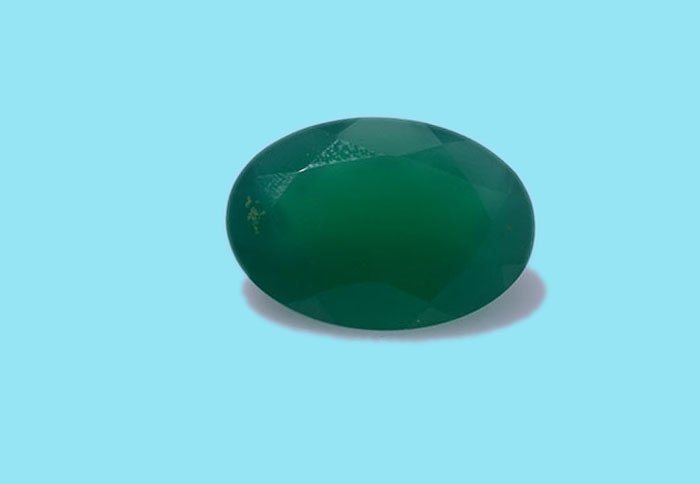 Certified Natural Green Onyx AAA Quality 16x12 mm faceted Oval 1 pc
