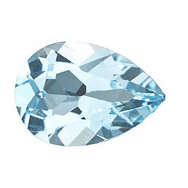 Certified Natural Sky Blue Topaz AAA Quality 10x7 mm Faceted Pear 10 pcs lot