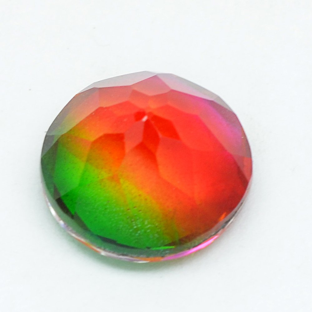 Certified  Quartz Doublets try-Color AAA Quality 20 mm Faceted Round 1 pc