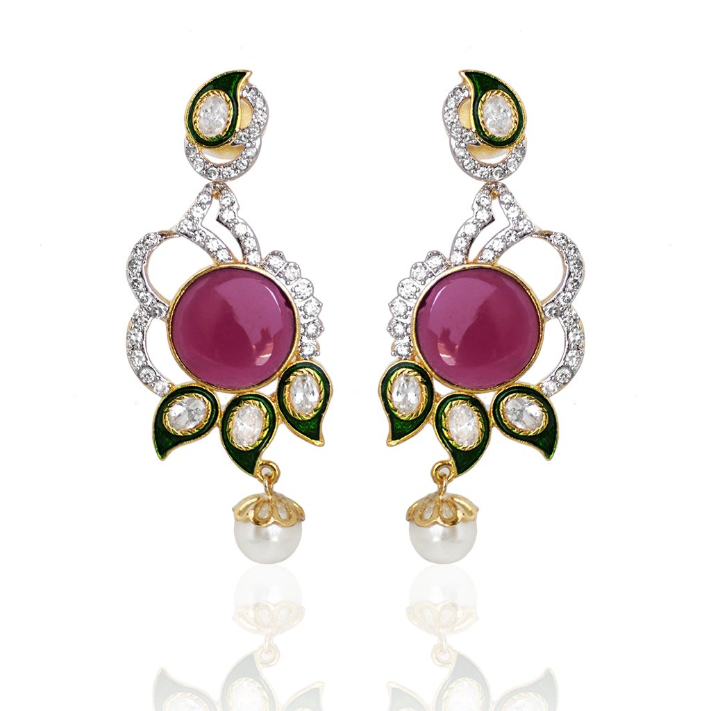 Beautiful Designer Brass Earring