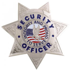 Security Badge 7pt Star Silver FCBA15