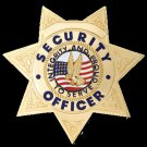 Security Badge 7pt Star Gold FCBA16
