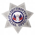 Special Security Officer Badge 7pt Star Silver FCBA13